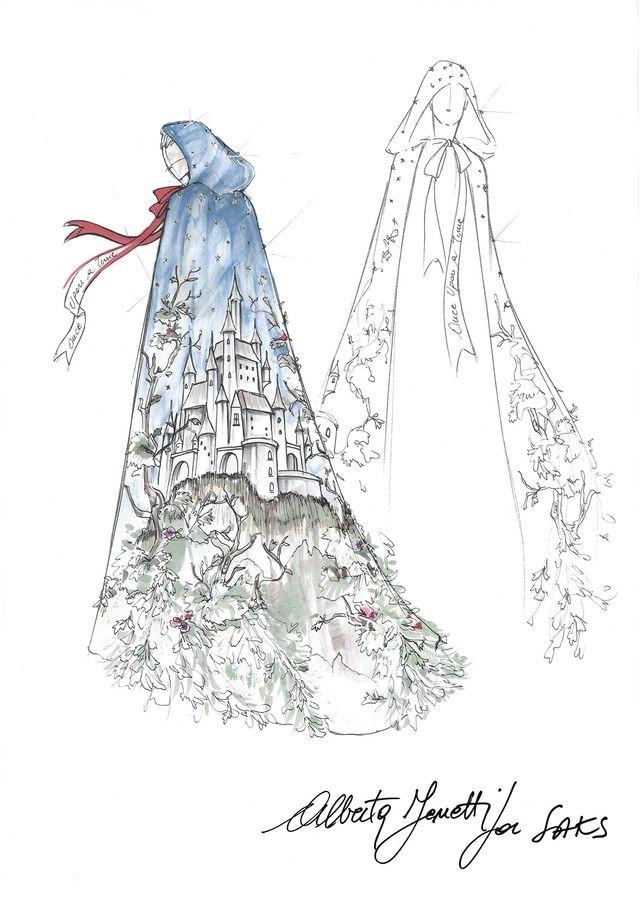 Vestido Branca de Neve por Alberta Ferreti