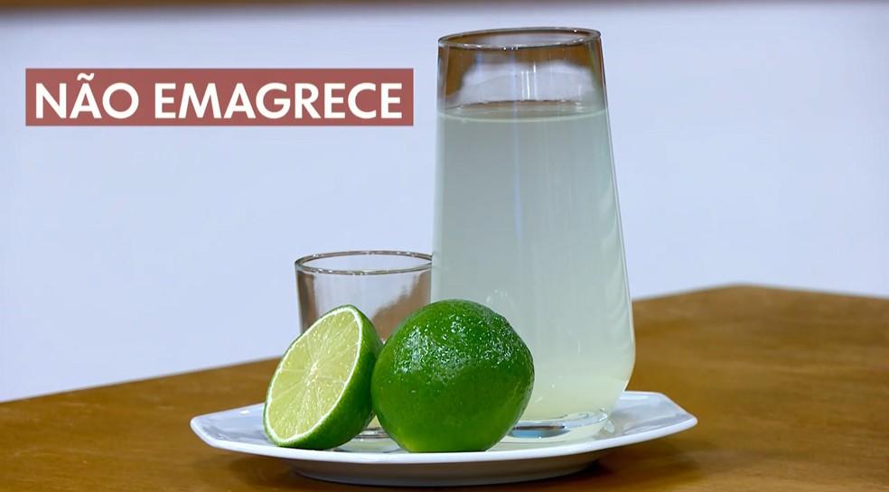 Suco de limão: não existe nenhuma comprovação científica de que ele emagrece — Foto: Reprodução/TV Globo