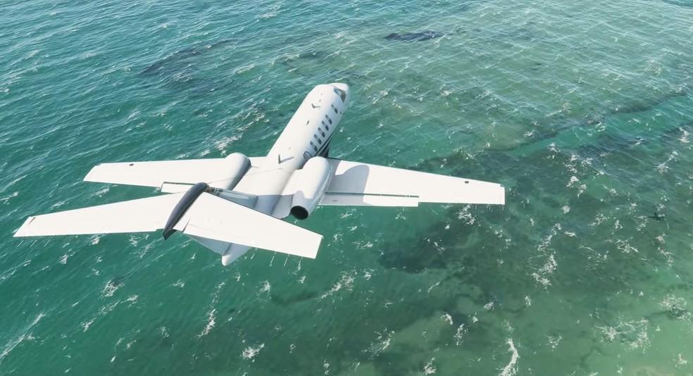 Microsoft Flight Simulator chama a atenção pelo nível de detalhes — Foto: Reprodução/Microsoft