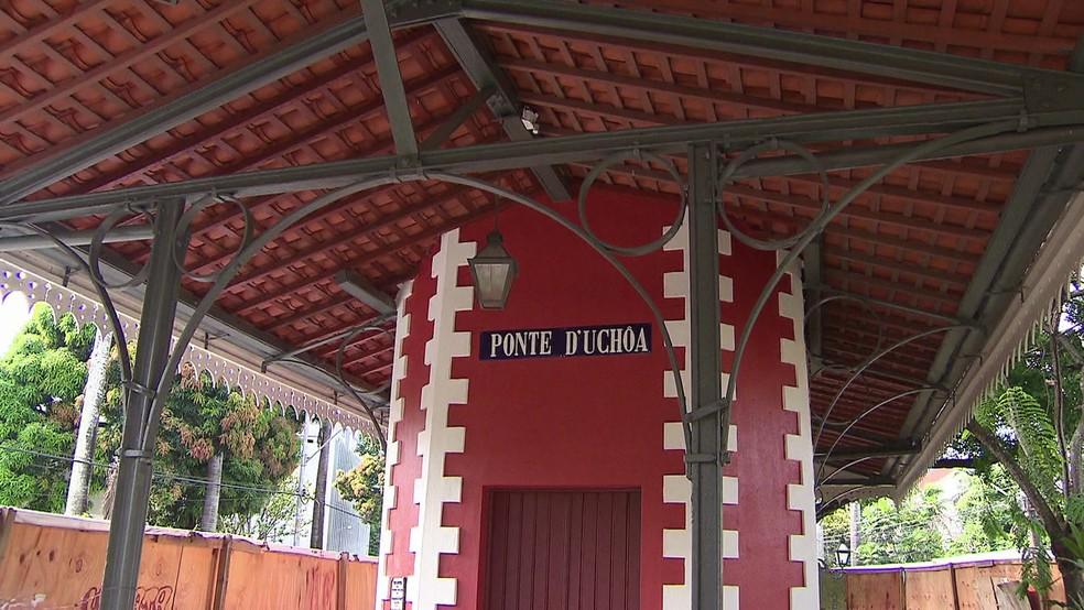 Estação Ponte D'Uchoa ligava engenhos da Zona Norte do Recife ao Centro — Foto: Reprodução/TV Globo