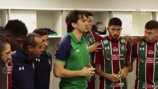 """Matheus Ferraz relembra discurso em preleção antes de vitória sobre São Paulo: """"Até eu me surpreendi"""""""