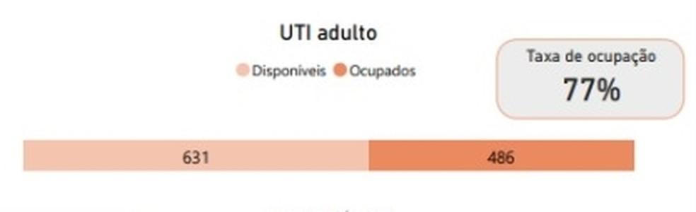 No início da noite deste domingo (19), a taxa de ocupação dos leitos de UTI em Salvador está em 77% — Foto: Divulgação/Sesab