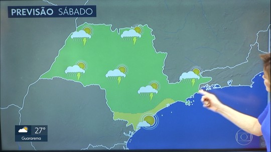 Previsão de sol, calor e chuva isolada em grande parte do estado, no fim de semana