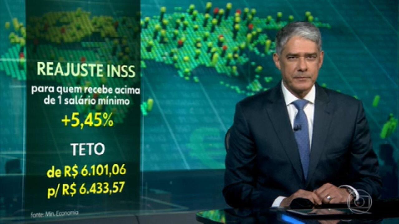 Governo reajusta em 5,45% benefícios do INSS de quem ganha acima do salário mínimo