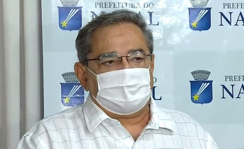 Álvaro Dias (PSDB), prefeito de Natal, fala sobre decreto com isolamento social rígido.  — Foto: Reprodução/Inter TV Cabugi