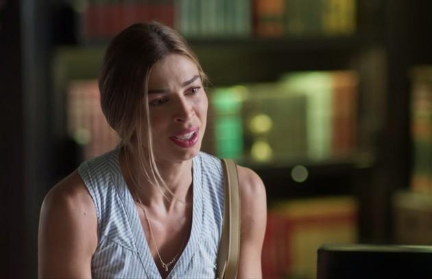 Na terça-feira (3), Paloma (Grazi Massafera) acusará Silvana (Ingrid Guimarães) de ter sido a causadora do mal-estar de Alberto (Antonio Fagundes) (Foto: TV Globo)