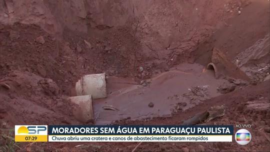 Moradores de Paraguaçu Paulista estão sem água