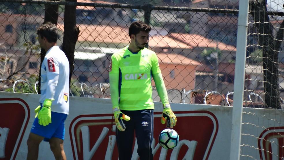Goleiro Rafael será titular contra a Ponte Preta neste sábado (Foto: Maurício Paulucci)