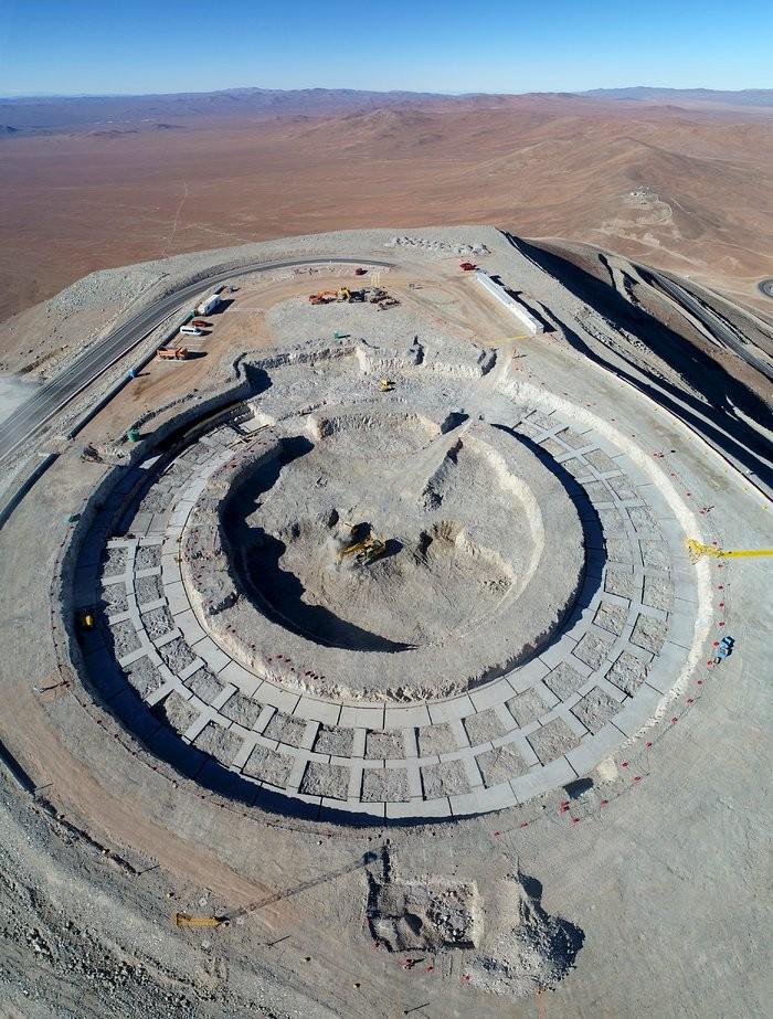 Área de construção do Extremely Large Telescop (Foto: ESO)
