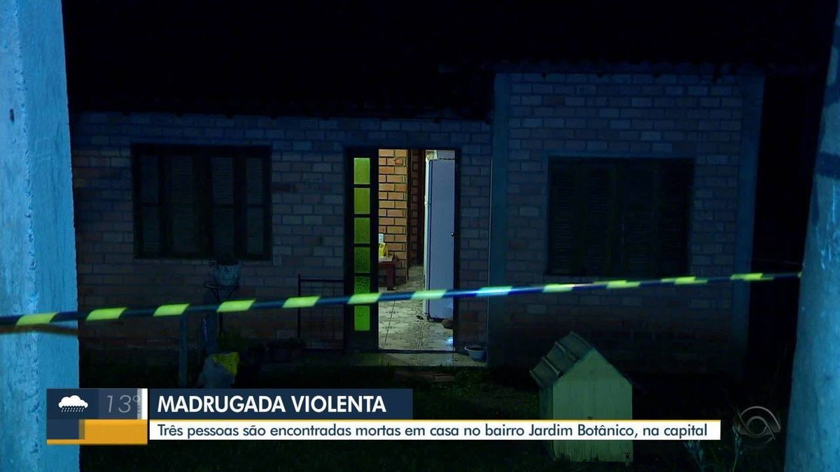Três pessoas são mortas dentro de casa no bairro Jardim Botânico, em Porto Alegre