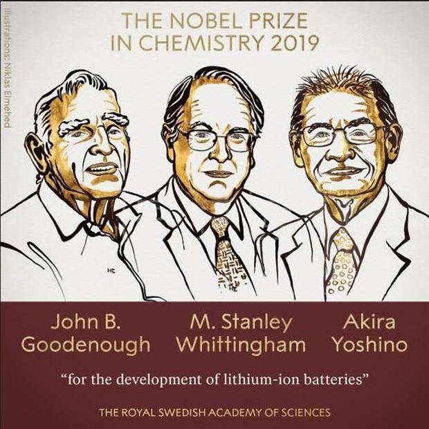 Prêmio Nobel de Química 2019 (Foto: Reprodução/Internet )