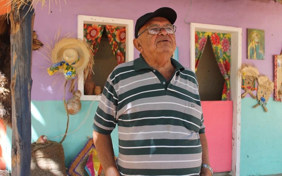 Chico Pedrosa é poeta e declamador do Sertão. Ele é uma das atrações do Festival (Foto: Juliane Peixinho/G1)