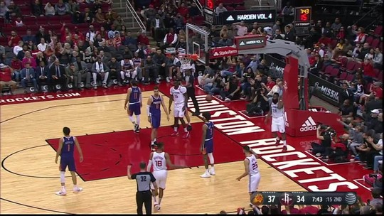 Com show de James Harden e triplo-duplo de Westbrook, Rockets vencem os Suns