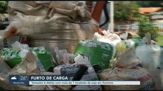 Vereador de Aramina, SP, é detido por suspeita de furtar carga com mais de 1 tonelada de soja