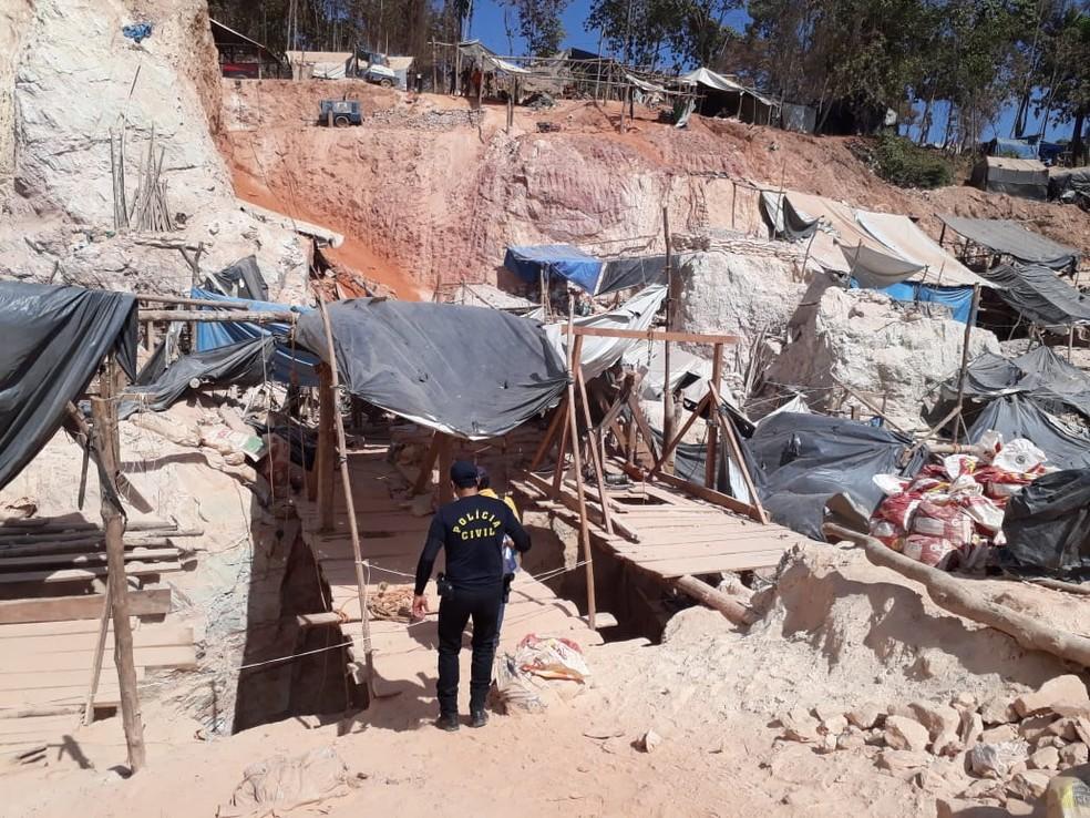 Polícia diz que homicídios aumentaram após surgimento de garimpo — Foto: Polícia Civil de Aripuanã(MT)