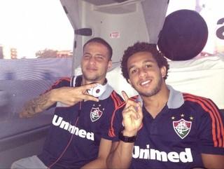 Bruno e Wellington Nem: parceria no Fluminense de 2012 a 2013 (Foto: Arquivo pessoal)