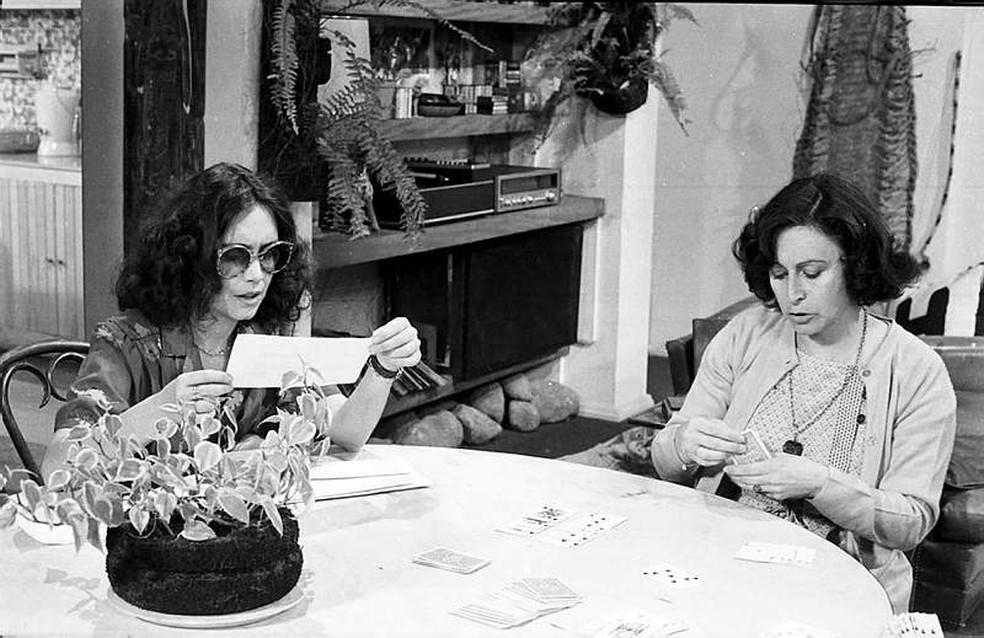 Sônia Guedes vivia Elza, mãe de Malu, papel de Regina Duarte em 'Malu Mulher' — Foto: Acervo TV Globo