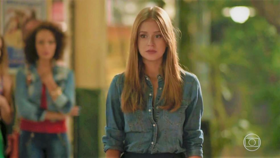 Eliza (Marina Ruy Barbosa) diz não para Arthur (Fábio Assunção) em 'Totalmente Demais' — Foto: TV Globo