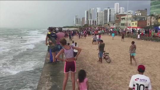 Globocop cai no mar da Zona Sul do Recife