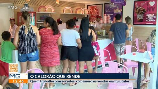 Comércio de sorvete comemora alta nas venda em Ituiutaba