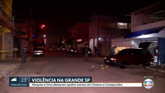 Dois ataques deixam pelo menos 4 mortos na Grande SP