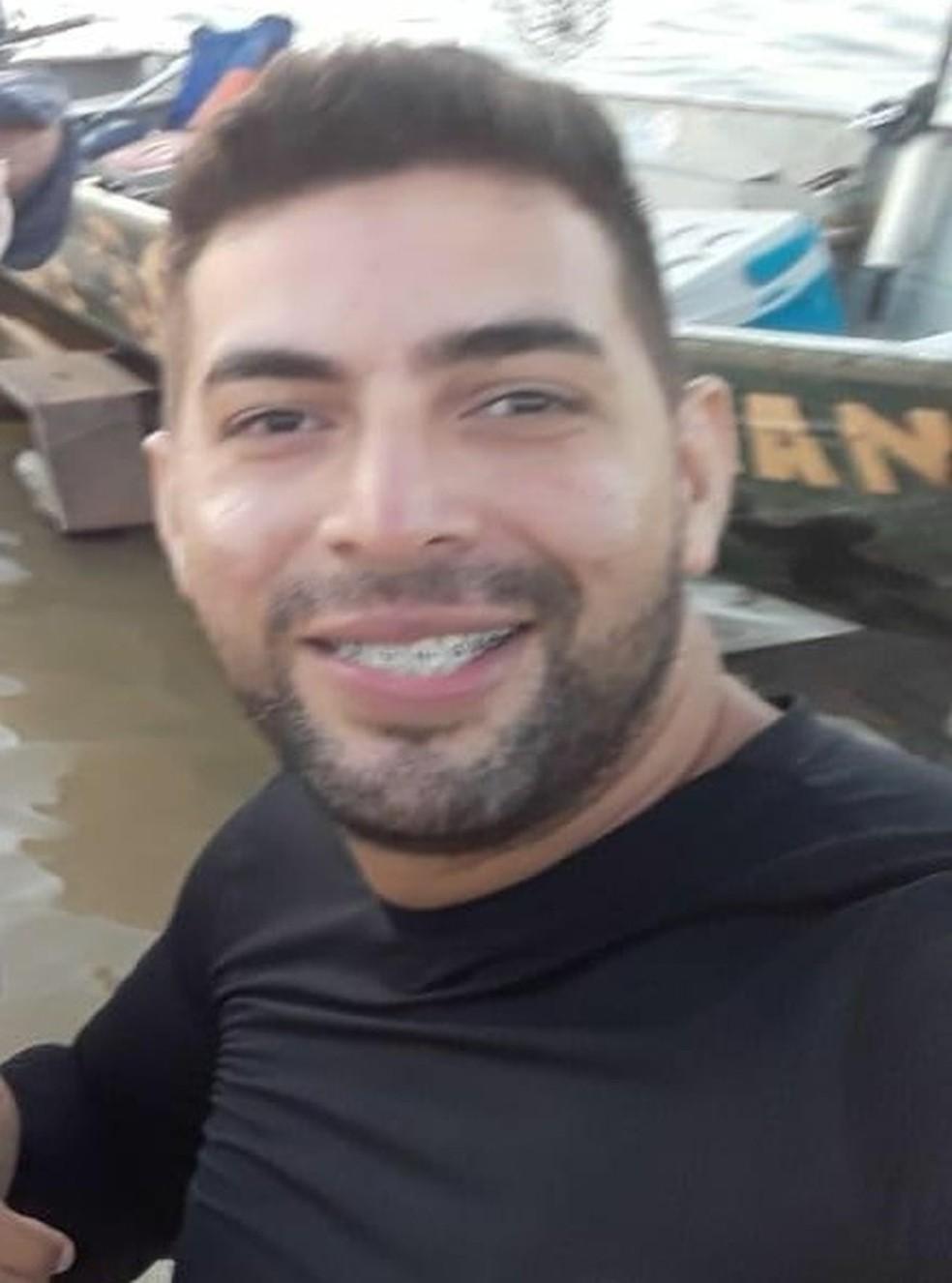 Marcos Paulo de Lima Marques, de 28 anos, desapareceu na última quinta-feira (15) após pescar com um amigo.  — Foto: Divulgação/Sistema penitenciário