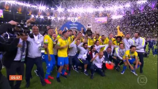 Veja como foi a vitória do Brasil na Copa América