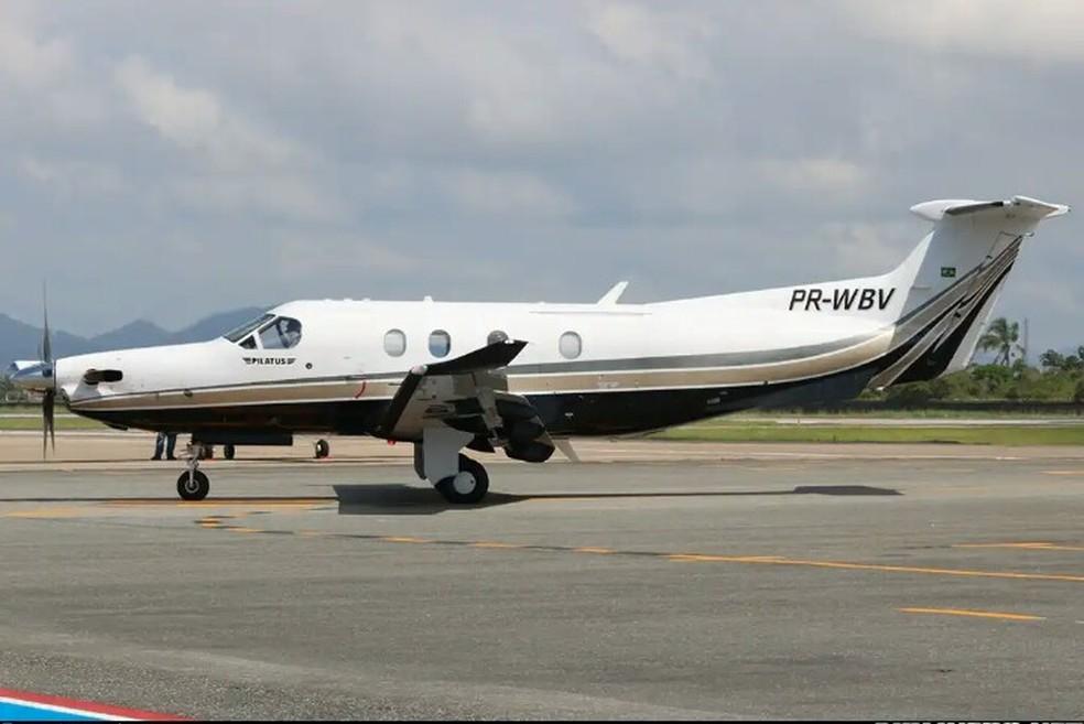 Modelo de aeronave envolvida no acidente no litoral norte de SP (Foto: Reprodução)