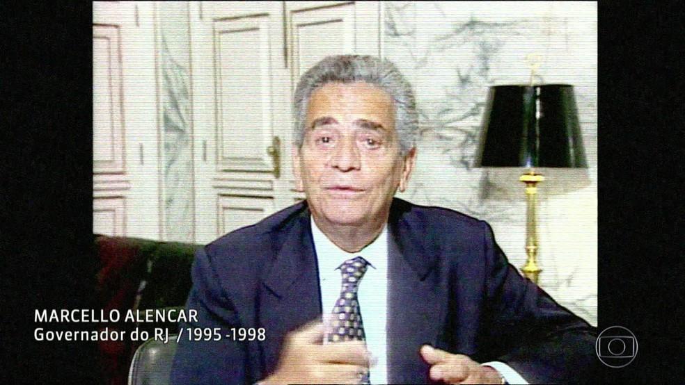 Ex-governador Marcelo Alencar (Foto: Reprodução/Acervo/Globo)