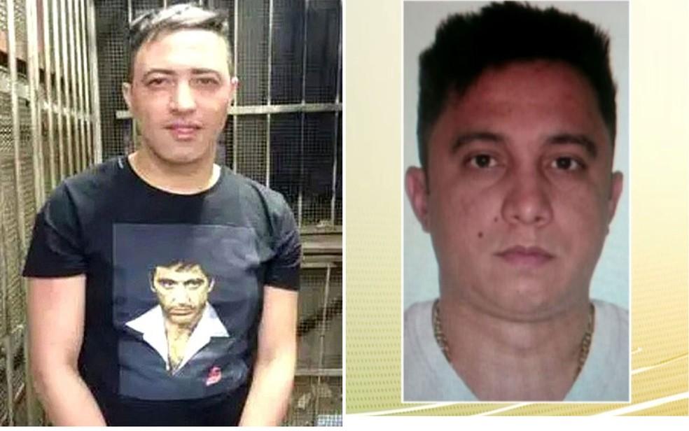 Claudio Roberto Ferreira, morto com tiros de fuzil nesta segunda (esq), e Wagner Ferreira da Silva, assassinado em hotel de SP em fevereiro (Foto: Reprodução/TV Globo)