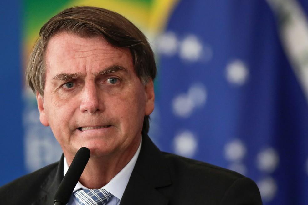 Presidente Jair Bolsonaro — Foto: Reuters/Ueslei Marcelino
