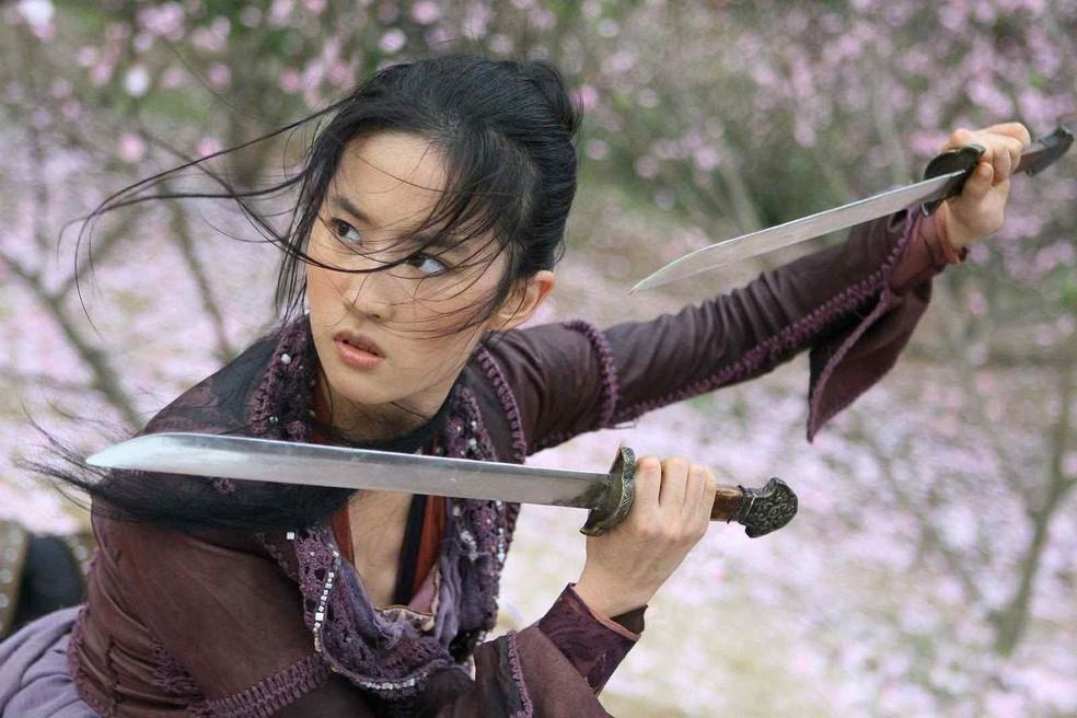 Liu Yifei em cena de 'O reino proibido' (Foto: Divulgação)