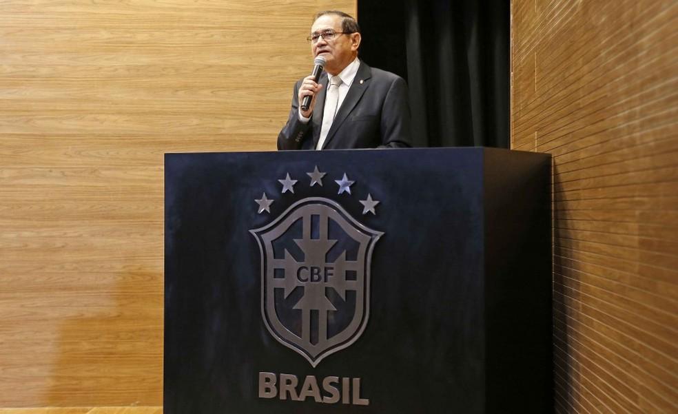 Coronel Nunes, presidente da CBF, votou diferente dos aliados sul-americanos na escolha da sede de 2026 (Foto: Rafael Ribeiro/CBF)