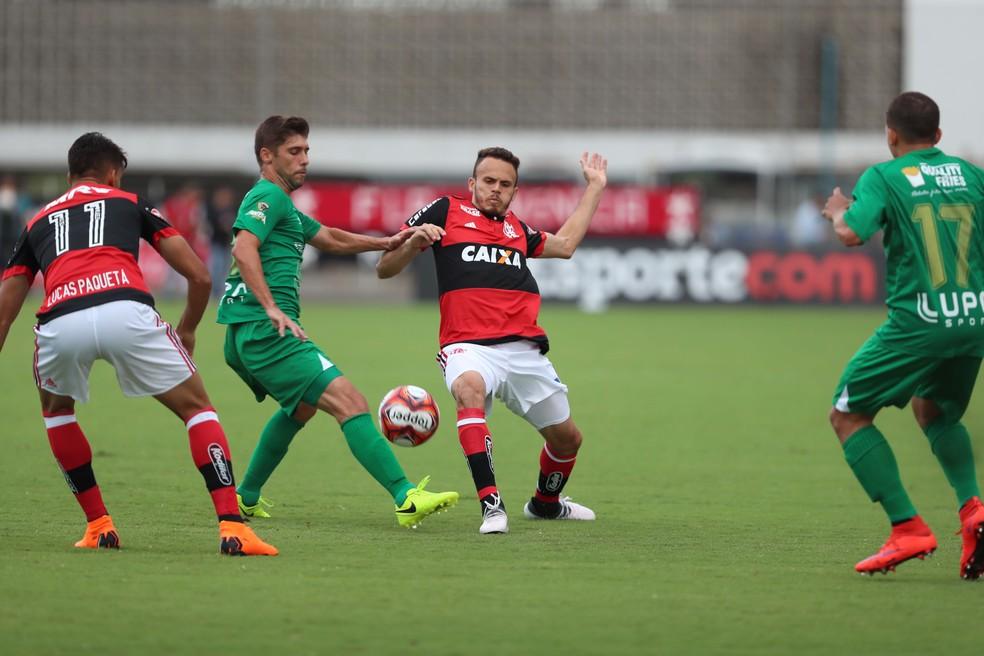 Renê na final entre Boavista e Flamengo (Foto: Gilvan de Souza/Flamengo)
