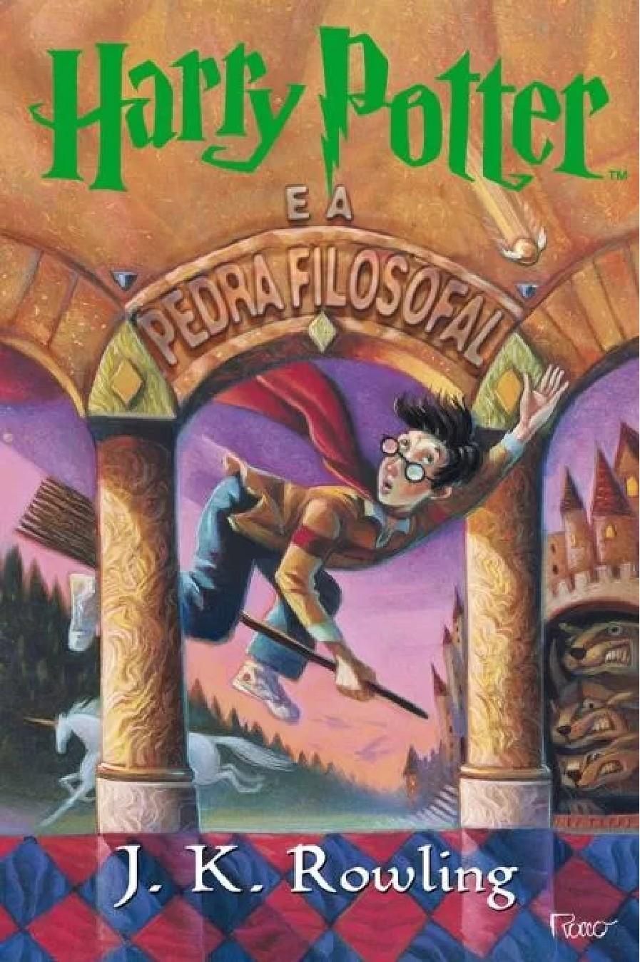 O primeiro livro da saga, Harry Potter e a Pedra Filosofal (Foto: Reprodução/Rocco)