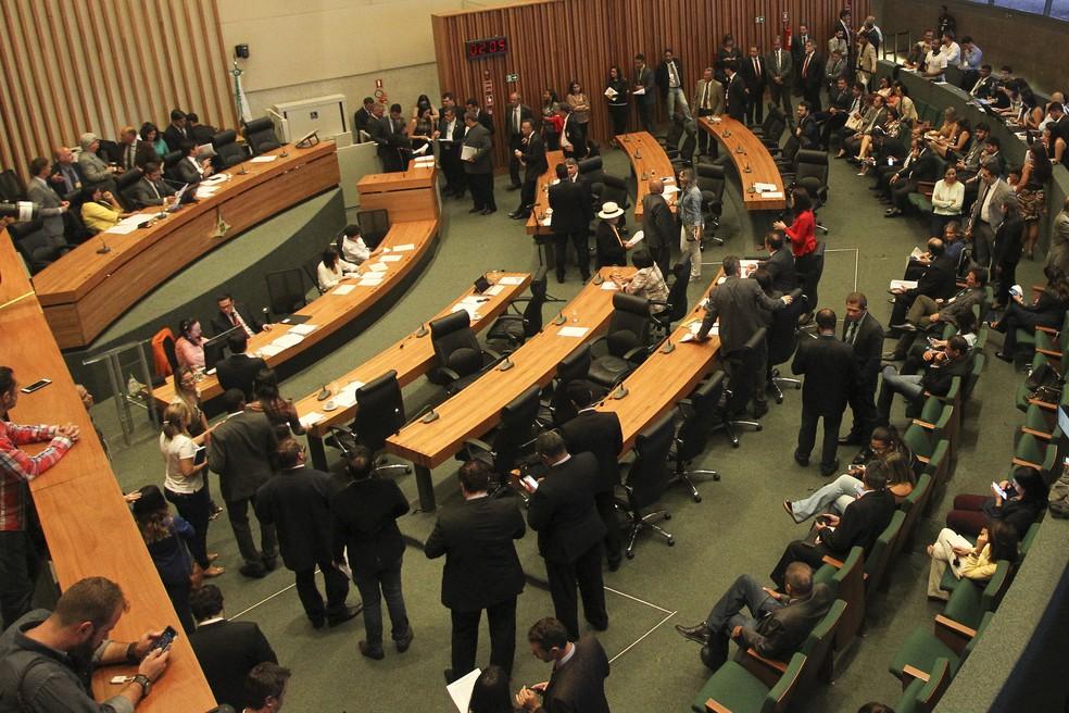 Plenário da Câmara Legislativa do DF durante votação — Foto: Toninho Tavares/Agência Brasília