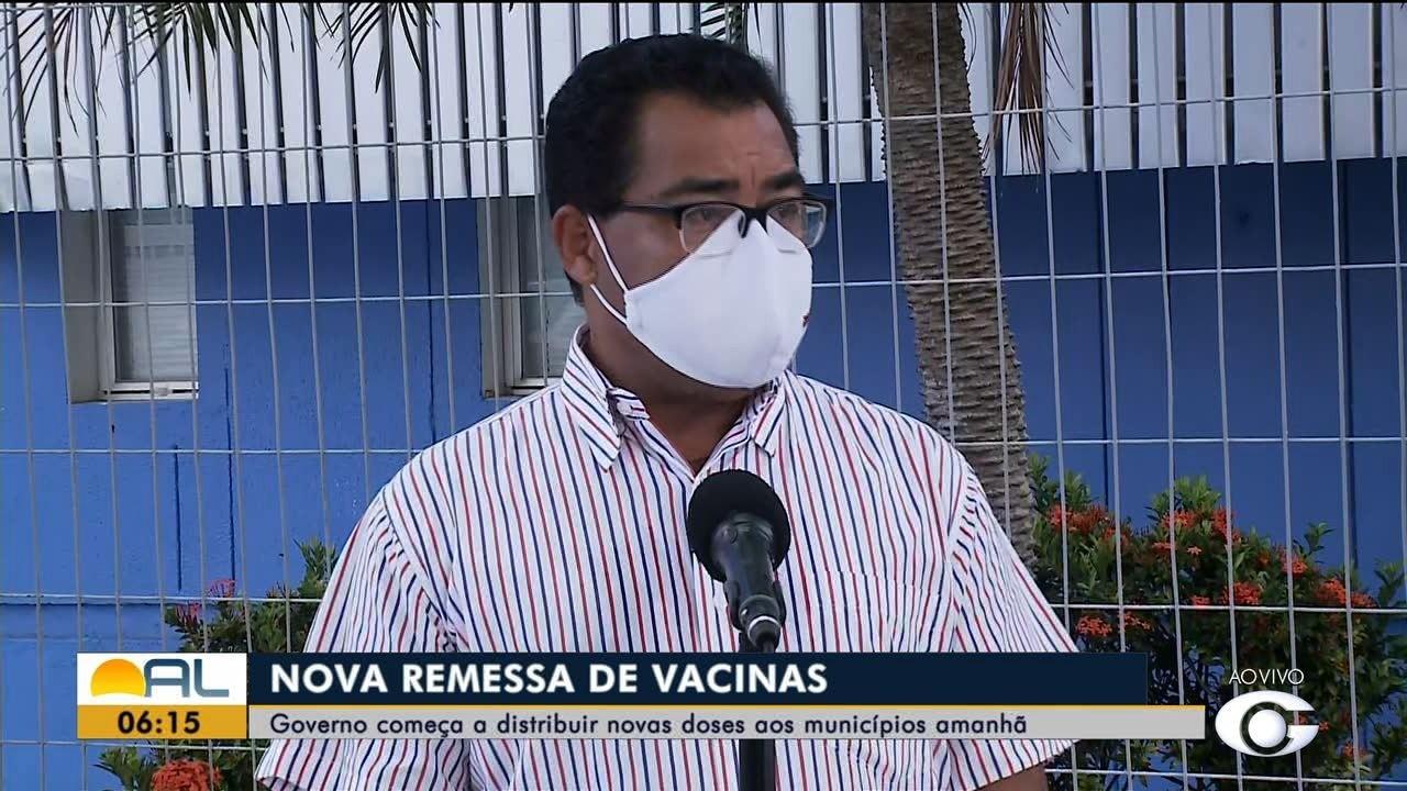 Vacinas contra a Covid-19 que chegaram a Alagoas serão distribuídas aos municípios