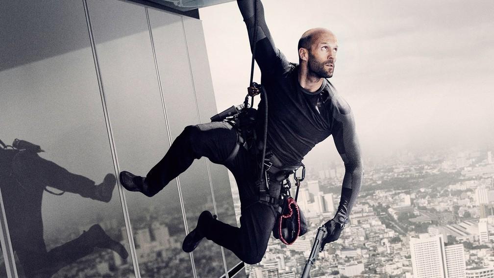 Jason Statham como protagonista de 'Assassino a Preço Fixo 2' — Foto: Divulgação