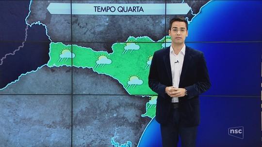 Quarta-feira é de tempo chuvoso e encoberto em Santa Catarina