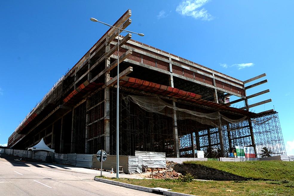Reforma e ampliação do Centro de Convenções de Natal, tem custos de R$ 35 milhões (Foto: Demis Roussos/Governo do RN)