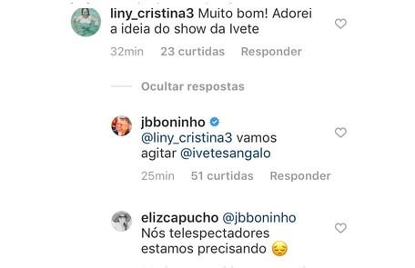 Show de Ivete Sangalo é citado por Boninho Reprodução/Instagram