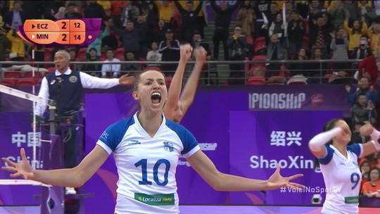 Melhores momentos: Minas 3 x 2 Eczacibasi pela semifinal do Mundial de vôlei feminino