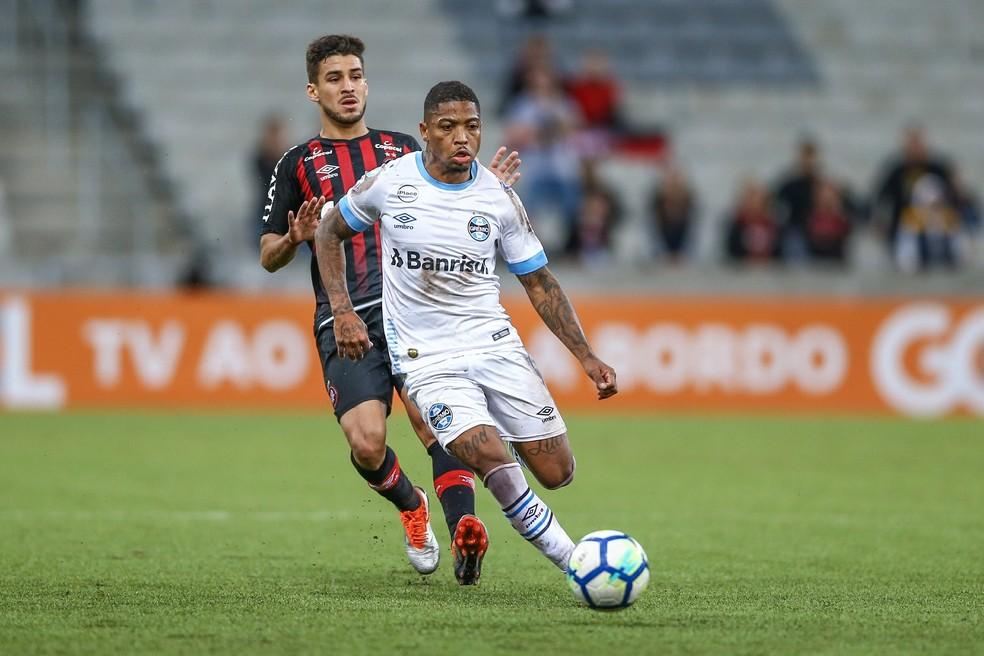 Marinho segue sem deslanchar pelo Grêmio (Foto: Lucas Uebel/Grêmio FBPA)