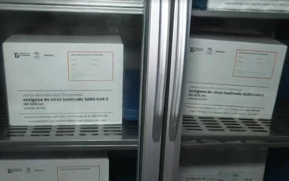 Ilhéus recebeu recebeu 7,5 mil doses — Foto: Reprodução/TV Bahia