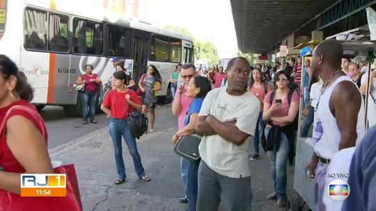 Rodoviários do Rio fazem paralisação de ônibus; prefeitura faz proposta para encerrar movimento