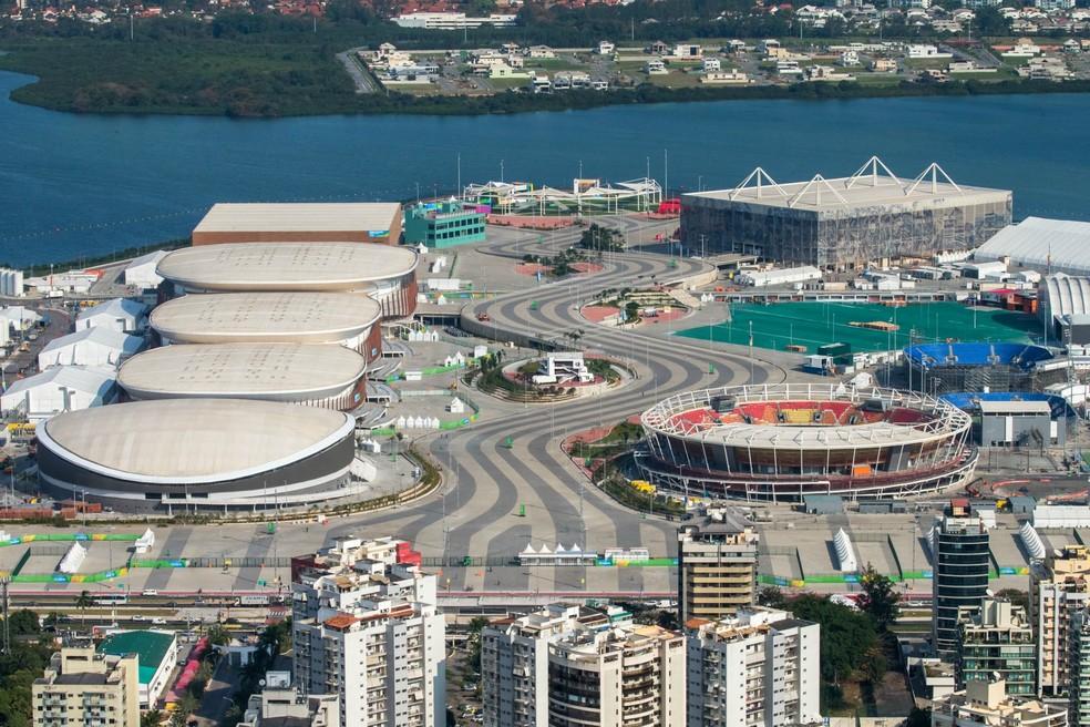 Visão aérea do Parque Olímpico da Barra — Foto: Divulgação