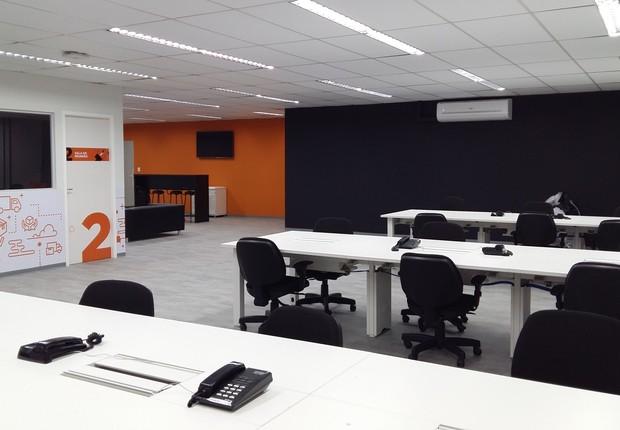 Coworking da TegUp, á disposição das startups parceiras (Foto: Divulgação)