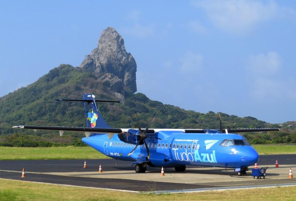 O avião que apresentou pane é modelo ATR, similar ao da foto — Foto: Ana Clara Marinho/TV Globo