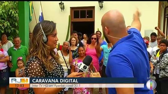 Caravana Digital da Inter TV passa por Aperibé, no RJ