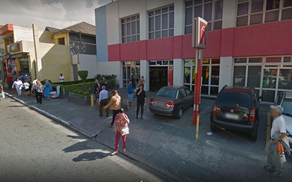 Agência do Bradesco em São Miguel Paulista — Foto: Reprodução/Google Street View